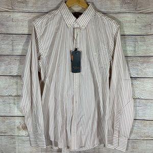 """Ben Sherman NWT """"mod"""" regular fit stripe shirt"""